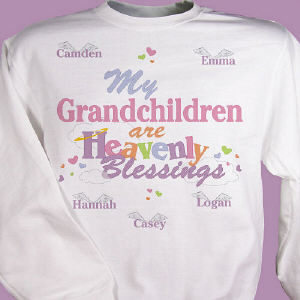 Personalized My Heavenly Blessings Sweatshirt