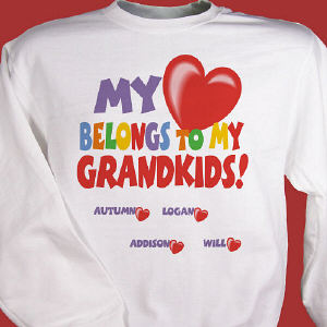 My Heart Belongs To Personalized Sweatshirt
