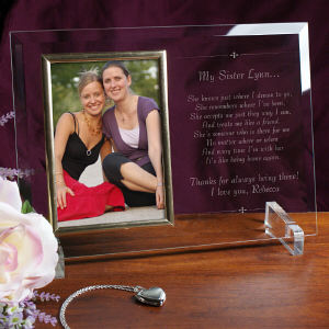 My Sister Frame Beveled Glass | Personalized Picture Frames