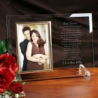 To My Love...Beveled Glass Picture Frame