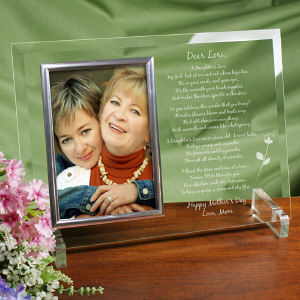 To My Daughter Personalized Mother's Day Frame - Beveled Glass Picture Frame