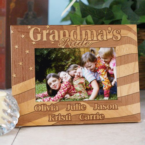USA American Pride Wooden Picture Frame | Personalized Wood Picture Frames