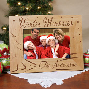 Winter Memories Personalized Wood Picture Frame | Personalized Christmas Picture Frames