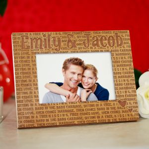 KISSING Wood Picture Frame
