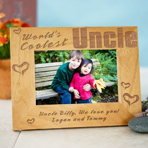 World's Coolest Personalized Uncle Wood Picture Frame | Personalized Wood Picture Frames