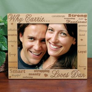 Personalied I Love You Wood Picture Frame