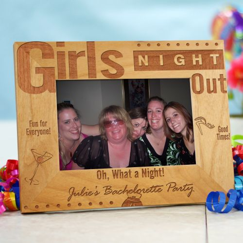 Girls Night Out Personalized Wood Picture Frame