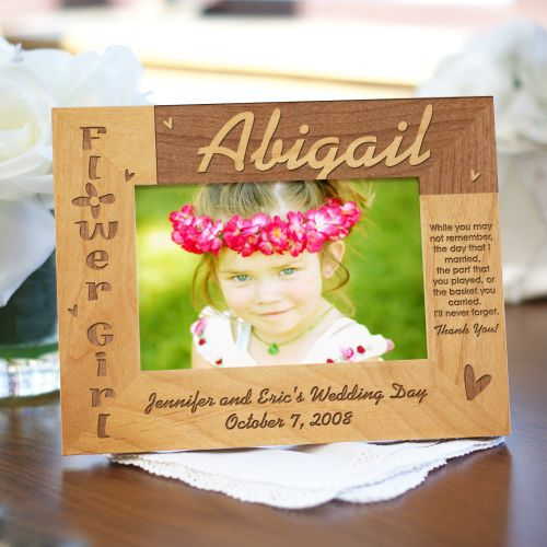 Flower Girl Wood Picture Frame