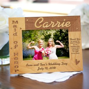 Maid of Honor Wood Picture Frame | Personalized Wood Picture Frames