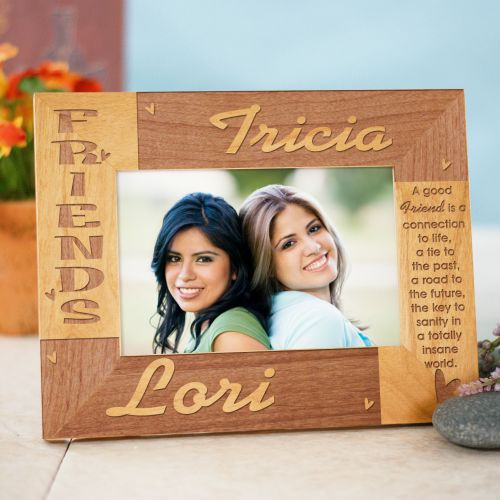 Friends Personalized Wooden Picture Frame | Personalized Wood Picture Frames