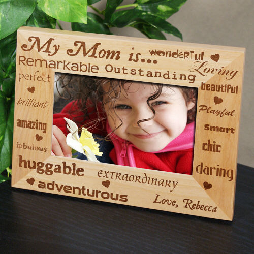 Personalized Mother's Day Photo Frame | Personalized Wood Picture Frames