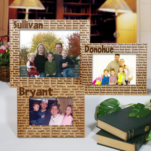 Family Name Personalized Wood Picture Frame | Personalized Picture Frames
