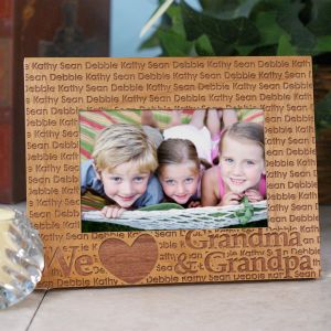 We Love... Personalized Wooden Picture Frame