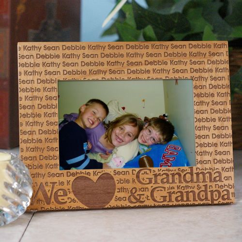 Personalized We Love Family Picture Frame | Personalized Picture Frames