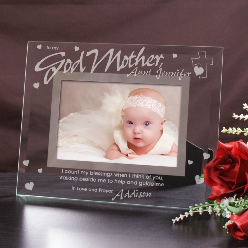 To My Godparent Glass Picture Frame | Personalized Picture Frames