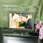 Engraved Love is...Glass Picture Frame