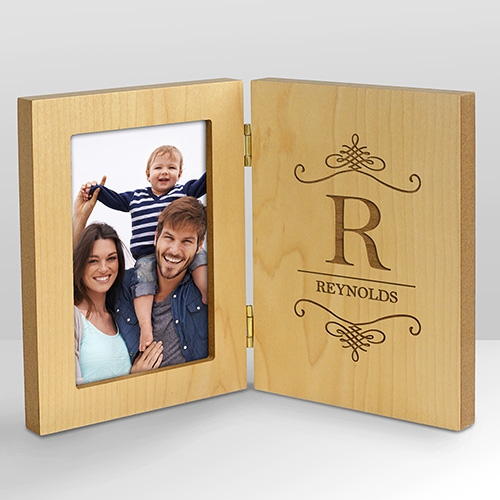 Personalized Family Hinged Wood Frame L9562141