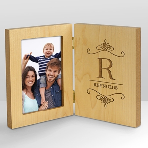 Personalized Family Hinged Wood Frame | Personalized Picture Frames