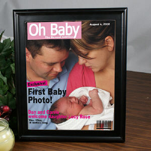 Oh Baby Magazine Cover Frame