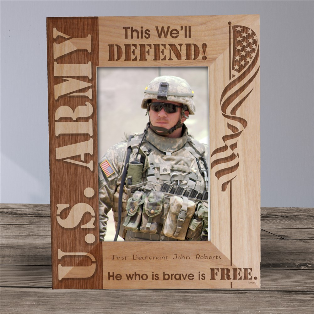 Personalized U.S. Army Wood Picture Frame | Personalized Wood Picture Frames
