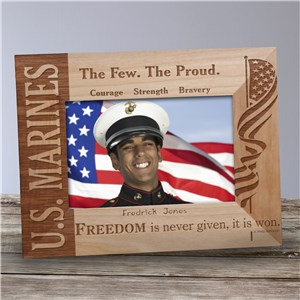 U.S. Marines Wood Picture Frame | Personalized Wood Picture Frames