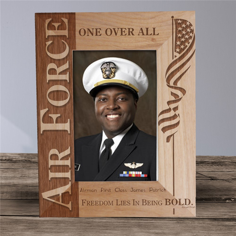 U.S. Air Force Wood Picture Frame | Personalized Wood Picture Frames