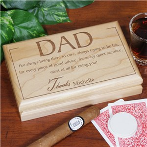 Thanks Dad Valet Box | Personalized Keepsake Box
