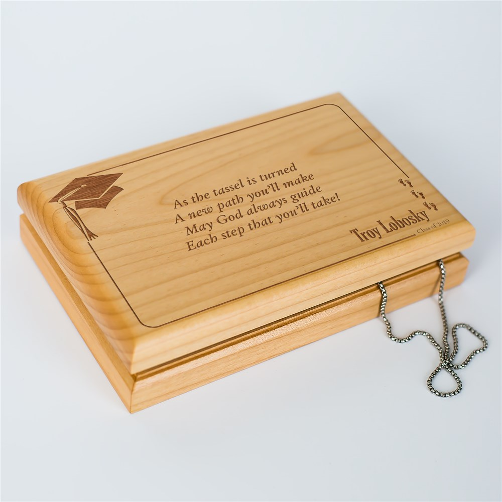 As the Tassel is Turned Graduation Valet Box | Personalized Graduation Gifts