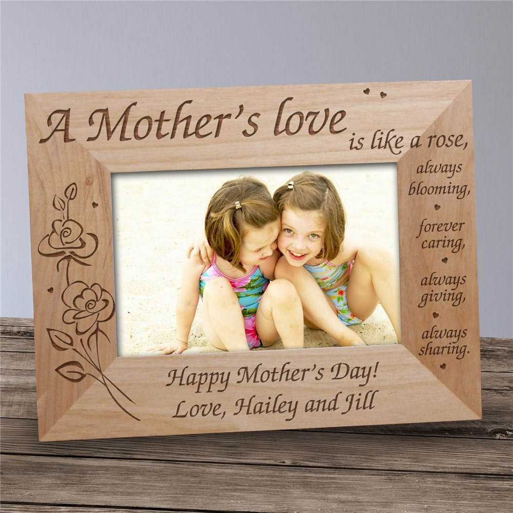 A Mother's Love Engraved Frame | Mother's Day Picture Frames