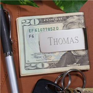 Sleek Silver Money Clip | Engraved Groomsmen Accessories