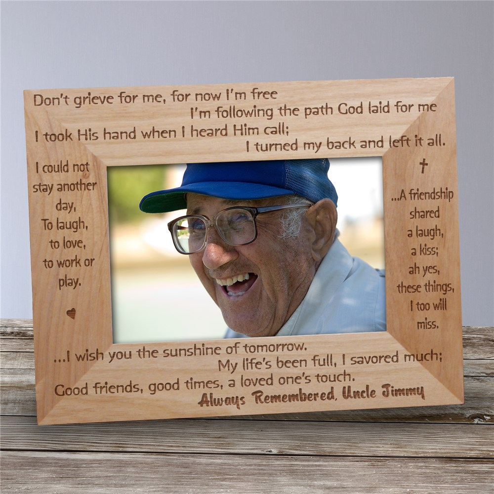 Always Remembered Memorial Wood Picture Frame | Personalized Wood Picture Frames