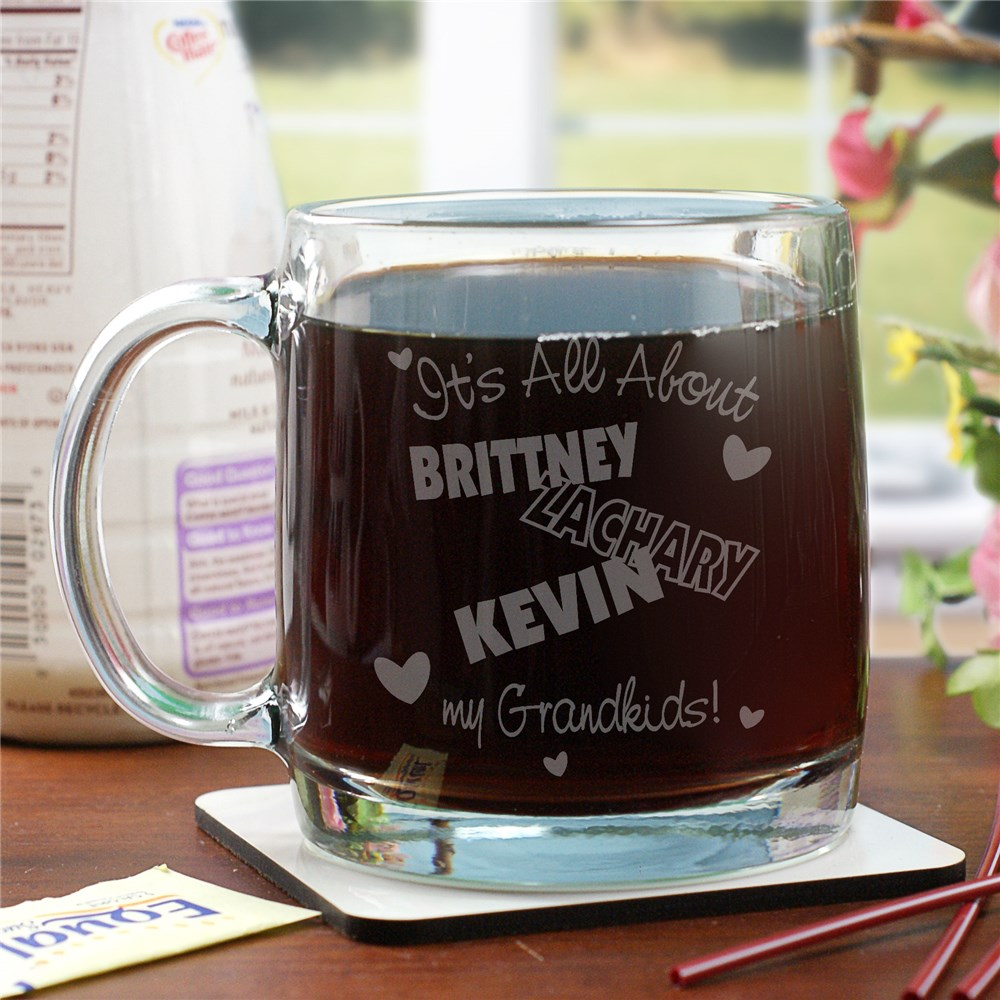 Personalized It's All About Glass Mug | Mother's Day Coffee Mug