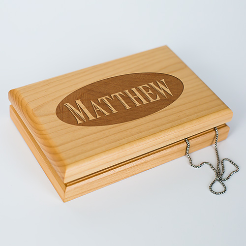 Initials Valet Box | Personalized Keepsake Box