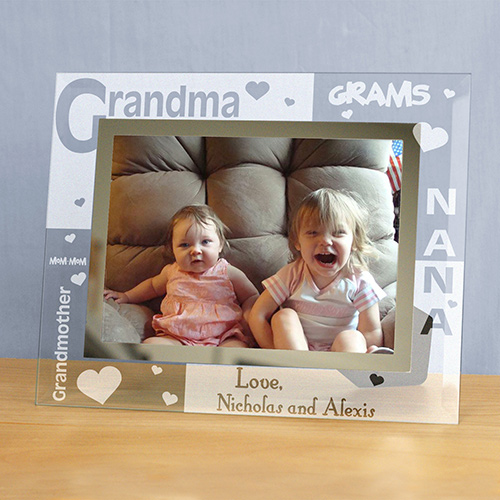 Engraved Grandma Glass Frame | Personalized Gifts For Grandma
