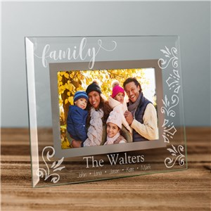 Personalized Decorative Family Name Glass Frame G9132031