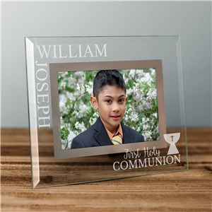 Glass Picture Frame With Name | Engraved Frames For First Communion