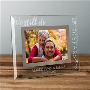 Customized Picture Frames | Glass Engraved Anniversary Frame