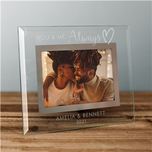 Engraved You and Me, Always Glass Frame