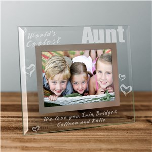 Engraved World's Coolest Glass Picture Frame | Personalized Picture Frames