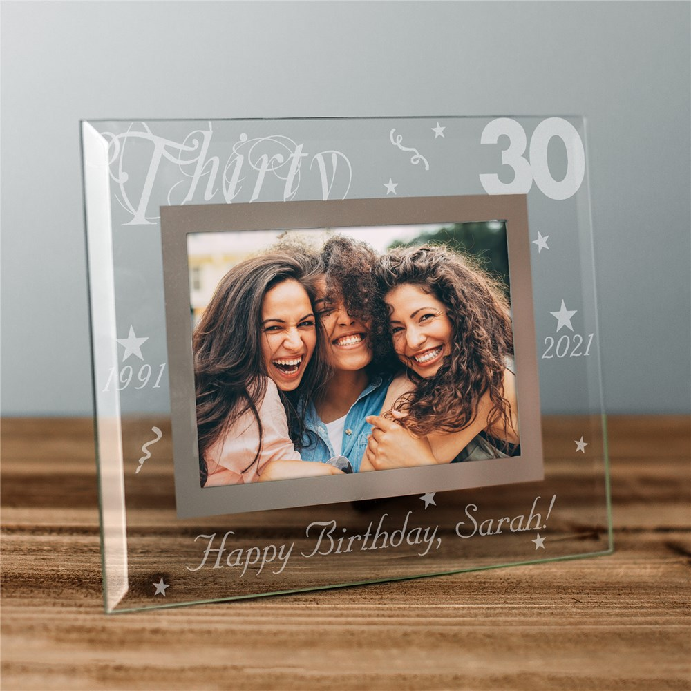 Personalized Birthday Glass Picture Frame | Personalized Picture Frames
