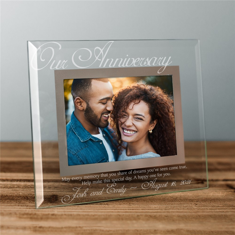 Our Anniversary Glass Picture Frame | Personalized Picture Frames