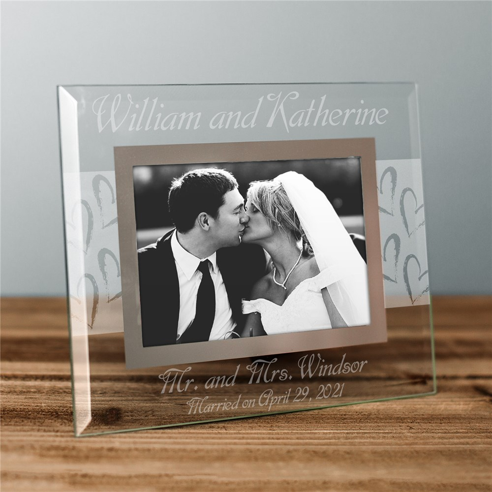 Mr. and Mrs. Wedding Picture Frame | Personalized Picture Frames