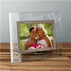 Bridesmaid Glass Picture Frame | Personalized Picture Frames