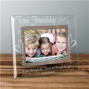 True Friends Personalized Glass Picture Frame | Personalized Picture Frames