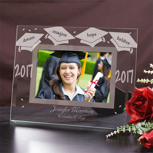 Personalized Graduation Glass Picture Frame | Graduate Gifts