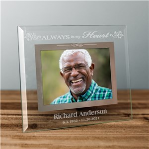 Memorial Engraved Glass Frame | Personalized Picture Frames