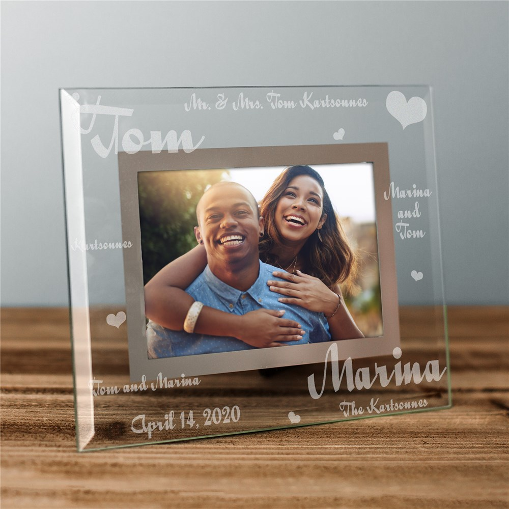 Mr. and Mrs. Wedding Picture Frame | Personalized Wedding Gifts