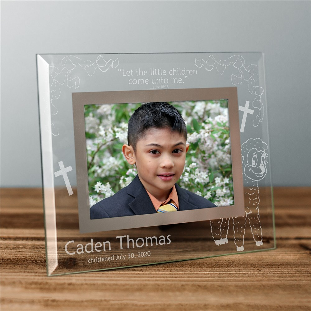 Engraved New Baby Glass Picture Frame | Personalized Baby Frames