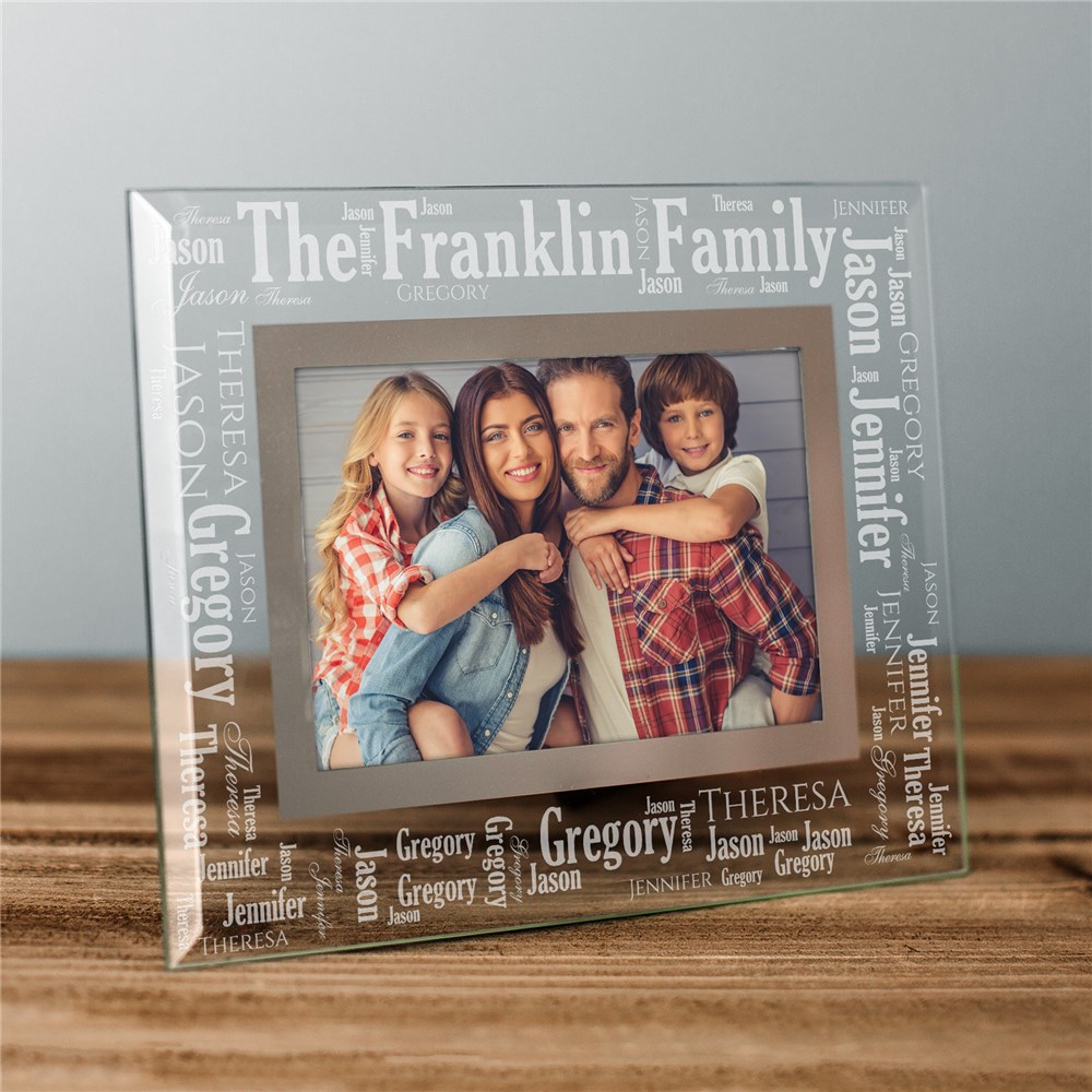 Family Pride Word-Art Glass Frame | Father's Day Gifts