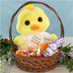 Chick And Candy Gift Basket | Personalized Easter Gift Basket For Kids